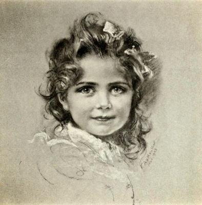 Фридрих Август фон Каульбах. Портрет дочери Николая II - Анастасии