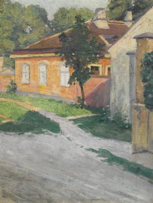 Egon Schiele. House in Hutteldorf