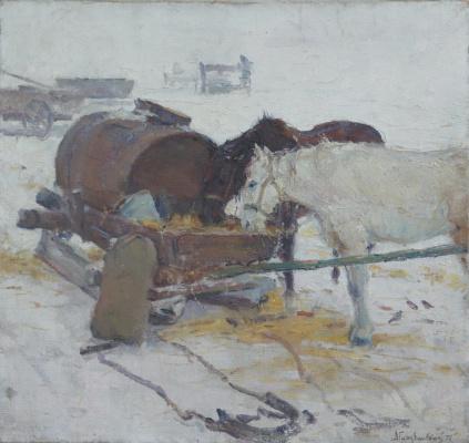 Альбин Станиславович Гавдзинский. Зима.