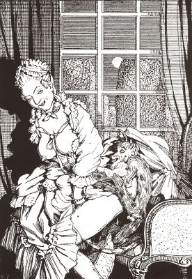 Constantin Somov. The book of the Marquise. Illustration