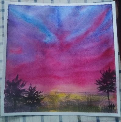 Alina Nesterova. Flaming sunset