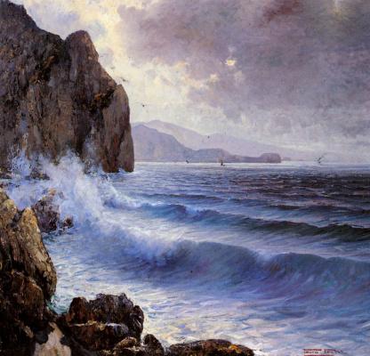 Паоло Прателла. Скалистый берег