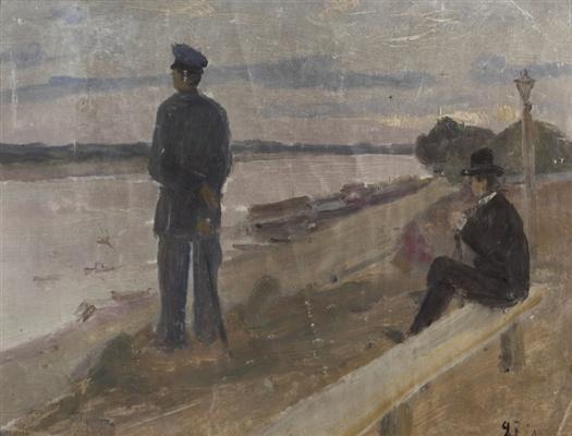 Kuzma Sergeevich Petrov-Vodkin. On The Volga River. Klinowski