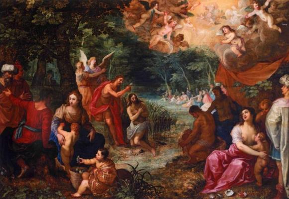 Jan Brueghel the Younger. Baptism of Christ (co-authored with Hendrick van Balen)