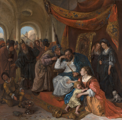 Jan Steen. Moses and crown of Pharaoh