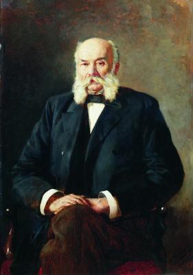 Nikolay Aleksandrovich Yaroshenko. Portrait of I. A. Goncharov. 1888