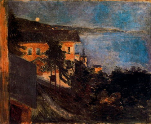 Edvard Munch. The moonlight over the fjord in Oslo