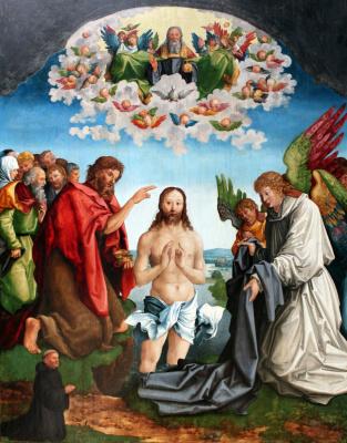 Вольф Траут. Крещение Иисуса Христа с портретом цистерцианского монаха-донатора