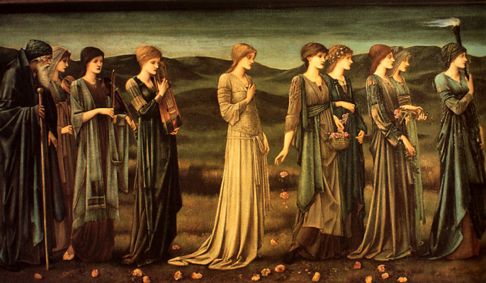 Edward Coley Burne-Jones. Wedding Psyche