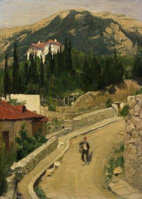 Viktor Mikhailovich Vasnetsov. Street in Yalta