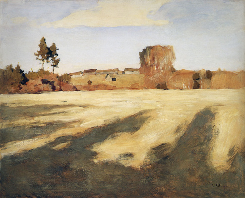 "Isaac Levitan. Compressed field. The picture ""Autumn. Sunny day"""