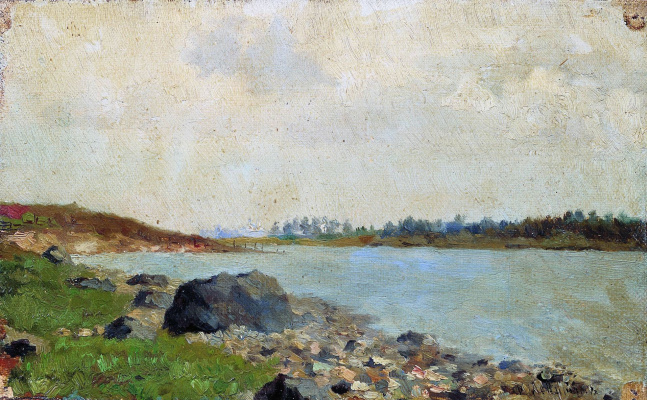 Isaac Levitan. On the Moscow river