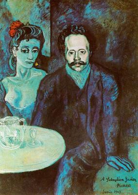 Пабло Пикассо. Мужчина и женщина за столом