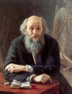 Nikolay Aleksandrovich Yaroshenko. Portrait of the artist Nikolai Nikolaevich GE