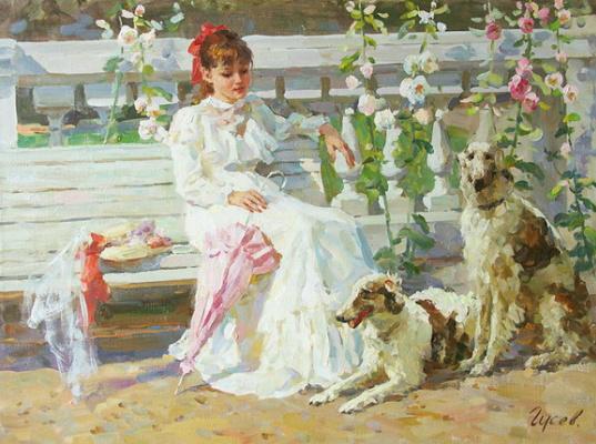Владимир Сергеевич Гусев. Отдых в парке.
