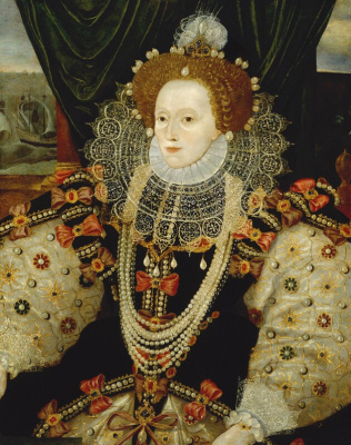 "Masterpieces of unknown artists. Portrait of Queen Elizabeth I ""the Invincible Armada"""