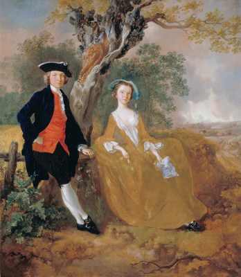 Thomas Gainsborough. Couple in a landscape