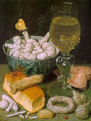 Georg Flegel. Still life with bread