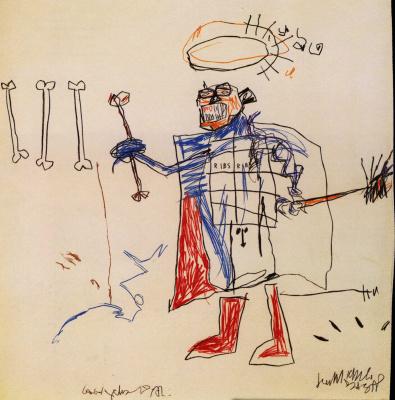 Jean-Michel Basquiat. Ribs, ribs