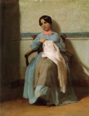 William-Adolphe Bouguereau. Portrait Of Leonie