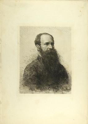Портрет художника В.В. Верещагина. 1882   офорт, сухая игла Paris