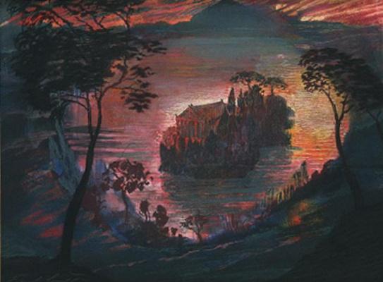 Эрнст Фукс. Храм на острове