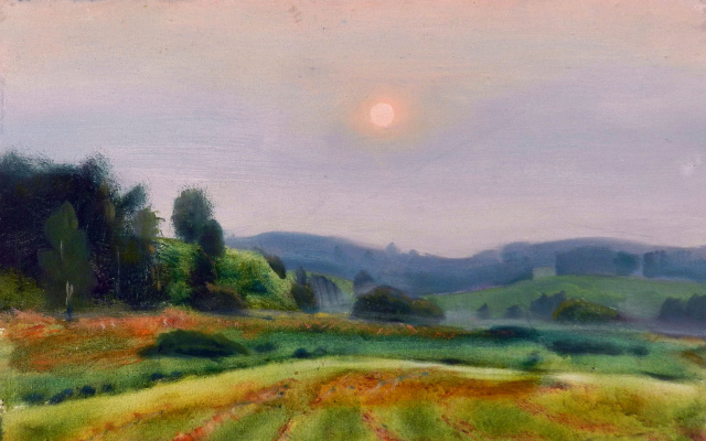 Vladimir Vladislavovich Vidyaykin. Sunset in Mikhailovsky