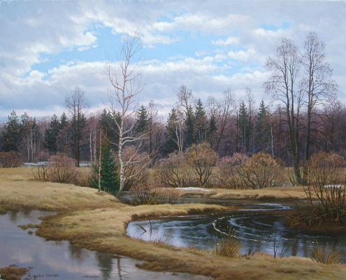 Alexander Vasilyevich Zoryukov. Sand River. April