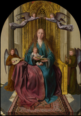 Quentin Masseys. Virgin Mary with a baby and four angels