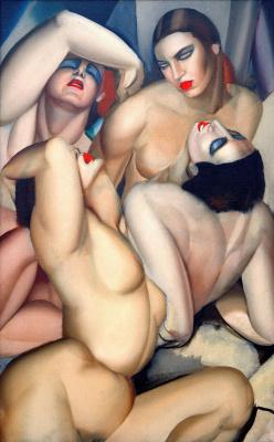 Tamara Lempicka. A group of four Nude
