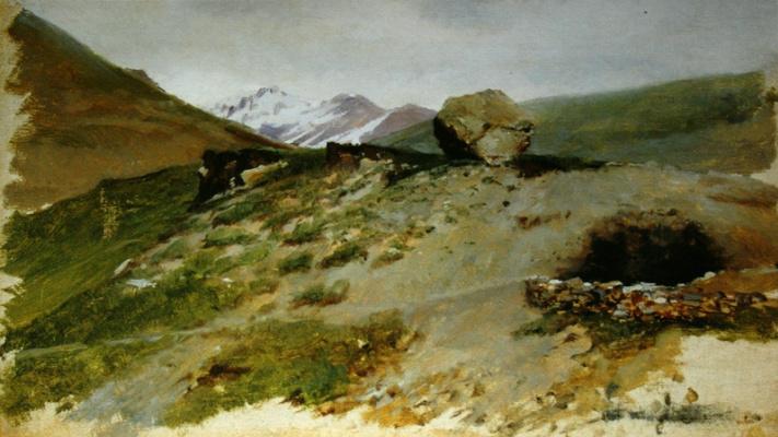 Николай Александрович Ярошенко. «Горный пейзаж» 1870-е