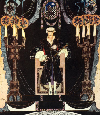 """Kay Nielsen. Illustration for the book """"In powder and crinoline"""". Old tales"""