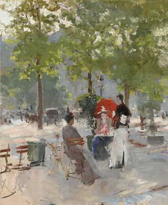 Konstantin Korovin. Paris cafe