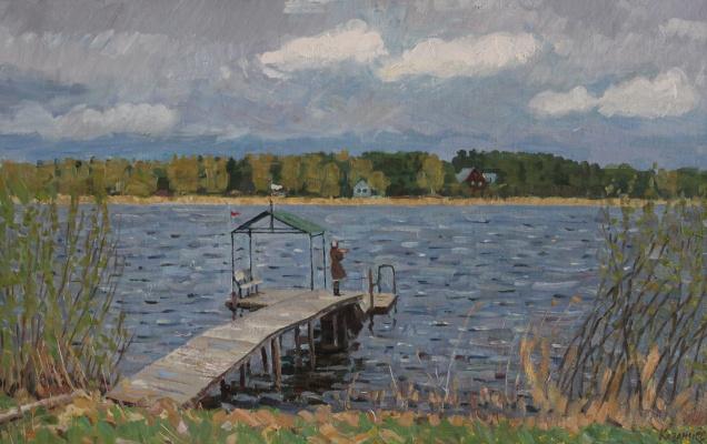 Eugene Alexandrovich Kazantsev. The bridge on Lake Seliger.