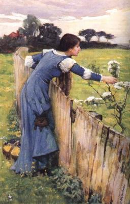 John William Waterhouse. The choice of the flower