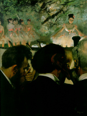 Edgar Degas. The musicians in the orchestra