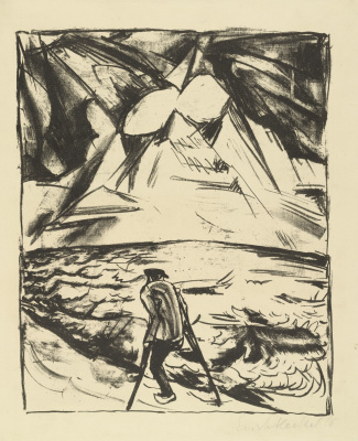 Erich Heckel. Disabled by the ocean