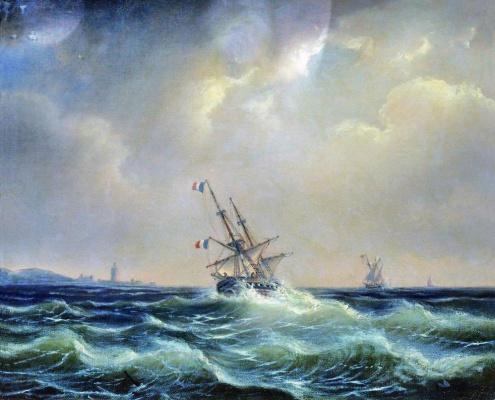 Алексей Петрович Боголюбов. Море в непогоду. 1871