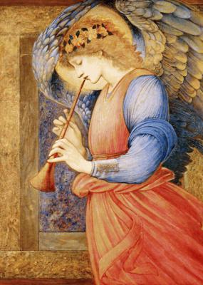 Edward Coley Burne-Jones. Angel playing flagol