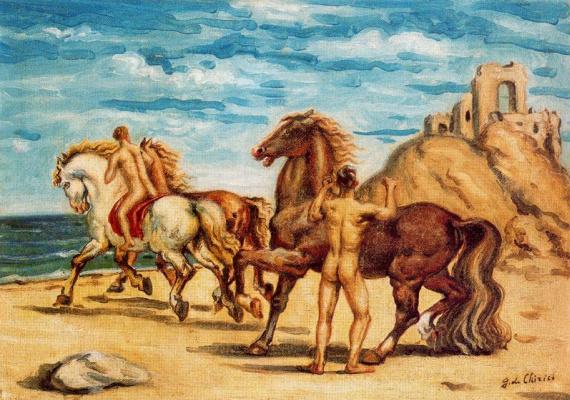 Giorgio de Chirico. Riders on the shore