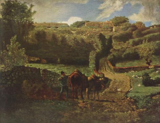 Жан-Франсуа Милле. Пейзаж в окрестностях Гревилля