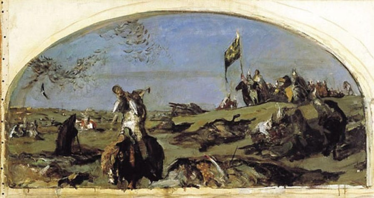 Valentin Aleksandrovich Serov. After the battle of Kulikovo