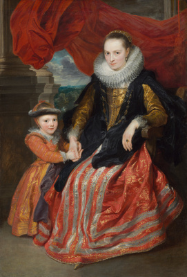Anthony van Dyck. Suzanne Fourment and her daughter