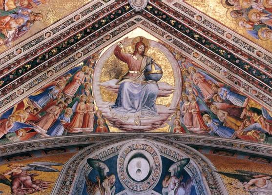 Фра Беато Анджелико. Роспись потолка капеллы Мадонны ди Сан-Бризио в Орвието: Христос во Славе