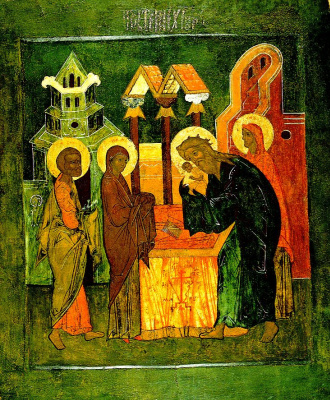Icon Painting. Candlemas