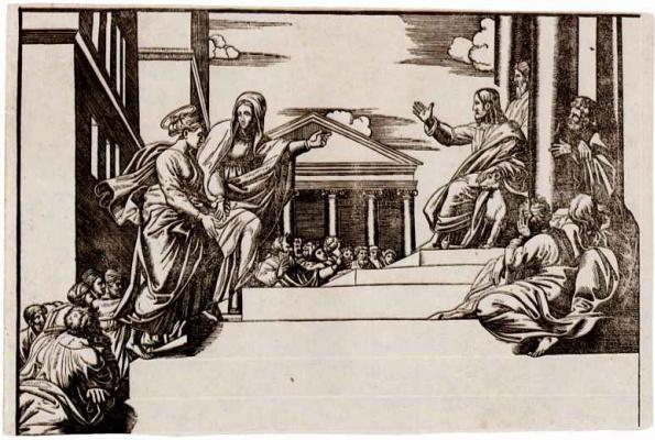 Георг Матеус. Марфа вводит Марию Магдалину в храм