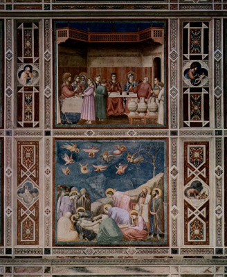 Giotto di Bondone. The marriage in Cana. Mourning