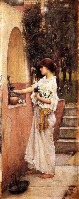 John William Waterhouse. Roman donation
