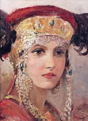 Sergey Sergeyevich Solomko. Young woman in headdress