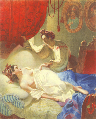 "Taras Grigorievich Shevchenko. Maria (illustration for ""Poltava by A. Pushkin)"